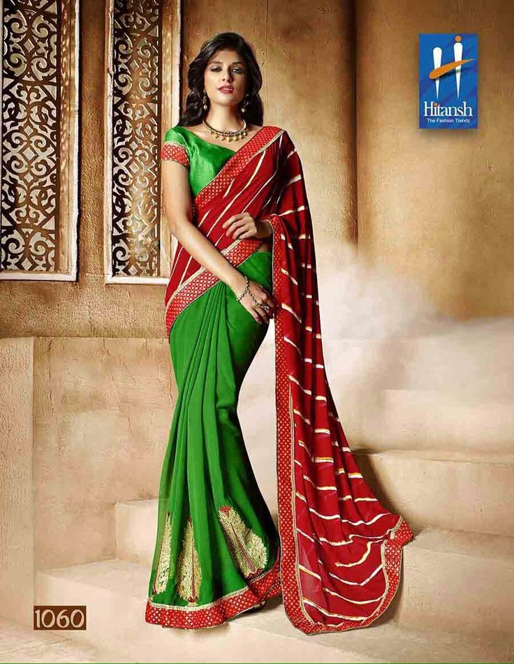 """""""Weekend saree sale"""" Pls call/whatsapp +919600639563. Code: wss htgrnred Price: Pls inbox/whatsapp Material: Georgette saree with attached blouse. For booking and further details pls call or whatsapp us at +919600639563. Happy shopping y'all :) Be Beautiful :)"""
