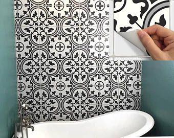Fußboden Bad Vinyl ~ Fliesen aufkleber aufkleber für küche aufkantung boden bad