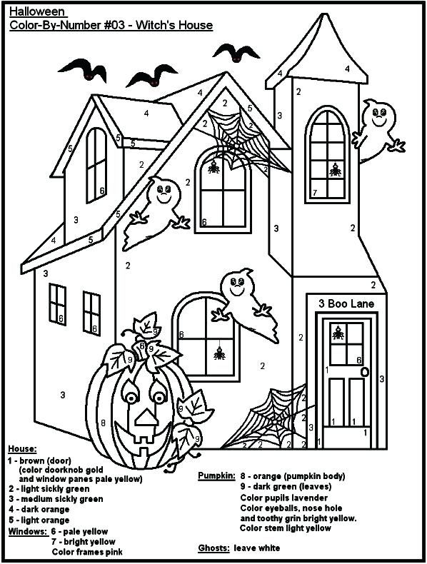 Halloween Color By Number Pages Halloween Color By Number Halloween Color Numb Halloween Worksheets Halloween Coloring Pages Printable Halloween Coloring Pages