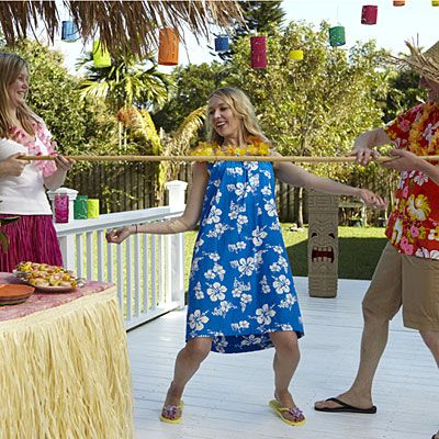 no luau party is complete without a limbo contest!