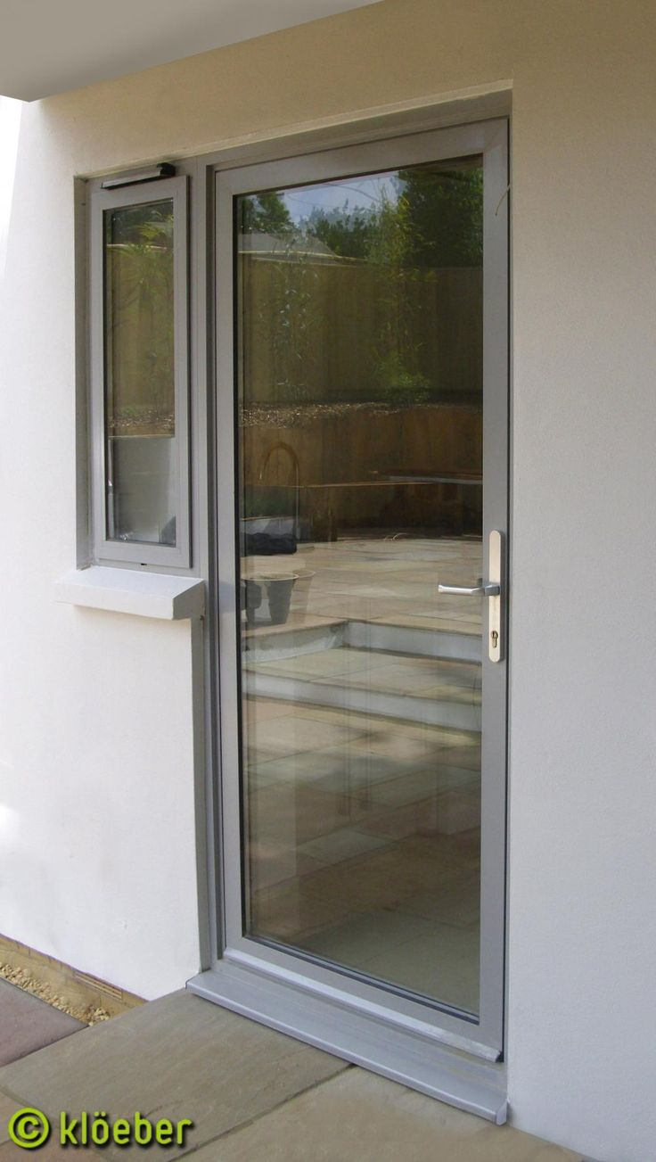 Replacement kitchen door: http://www.kloeber.co.uk/gallery/aluminium-french-and-single-doors/aluminium-single-doors