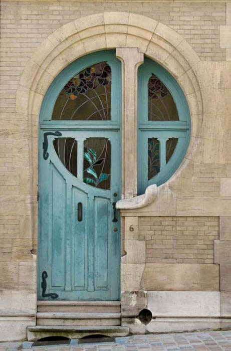art nouveau / 바다색 문 / 건축 [architecture, 建築] / dreamy