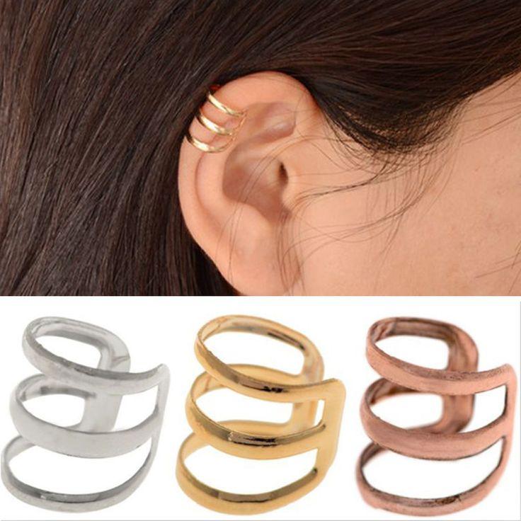 1 Pcs Europeus e Americanos estilo retro oco U-em forma de osso do ouvido clipe de brincos invisíveis brincos sem orelhas furadas EAR-0600