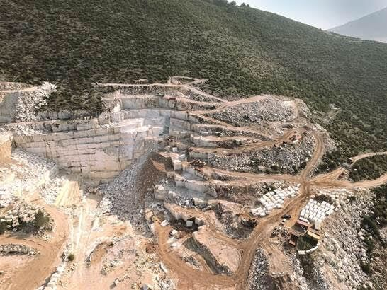 Volakas Haemus marble is extracted from our privately owned quarry (Kar- Mar Marbles Ltd) which is located in the world-renowned marble-bearing area of Volakas, in Northern Greece. The quarry produces two types of white marble:  Volakas Haemus and Volakas Electron.  To learn more about the marble click here: https://www.stonegroup.gr/portfolio-item/volakas-heamus/ #stonegroupinternational #volakashaemusmarble #volakashaemus #whitemarble #white #grey #marble #quarry