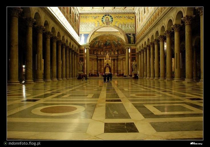 Rzym, Św. Paweł za Murami, jedna z najpiękniejszych bazylik jakie dane mi było zobaczyć