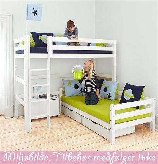 90x200cm Kombi-vinkelseng (Køyeseng) med 2 sengeplasser
