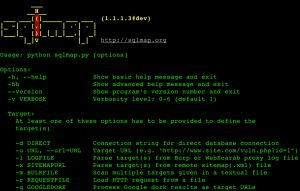 sqlmap v1.1 – Automatic SQL injection and database takeover tool.
