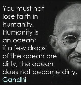 Sorry. Sometimes Gandhi is necessary.