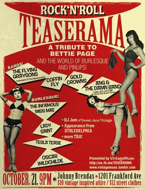 Anorak | Watch 1955 Burlesque Film Teaserama, Featuring Bettie Page The Girls 'Who Strip To Please'