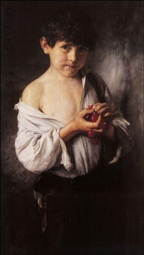 """""""Το παιδί με τα κεράσια"""", Γύζης."""