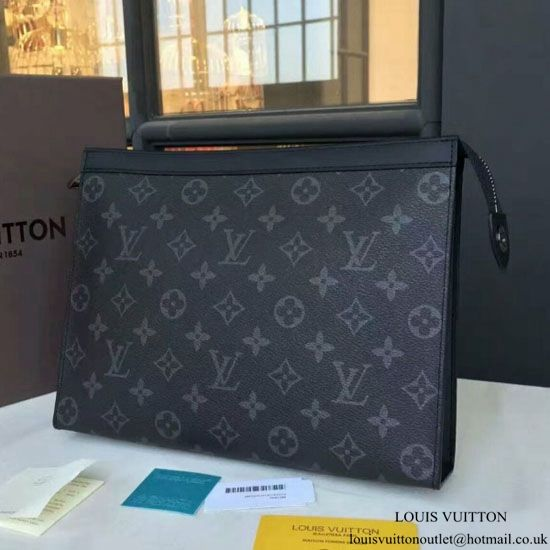 f15f07e8f8b1 Louis Vuitton M61692 Pochette Voyage MM Monogram Eclipse Canvas ...