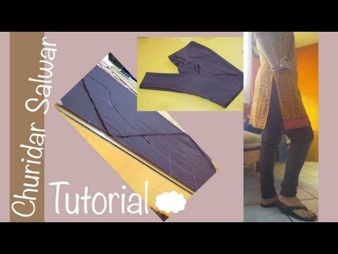 ★ How to make a perfect Churidar Salwar ★bias cutting / Aadaa Pajama ♥ Cloud factory ☁ - YouTube