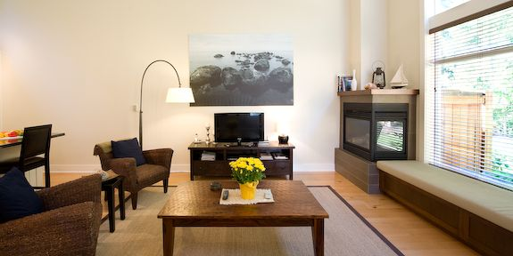 For those times you need to just kick back and enjoy the memories of a fun filled day there are 2 TVS, 2 DVD players, free password protected WiFi Internet access, corner gas fireplace, BBQ and a patio table with chairs.