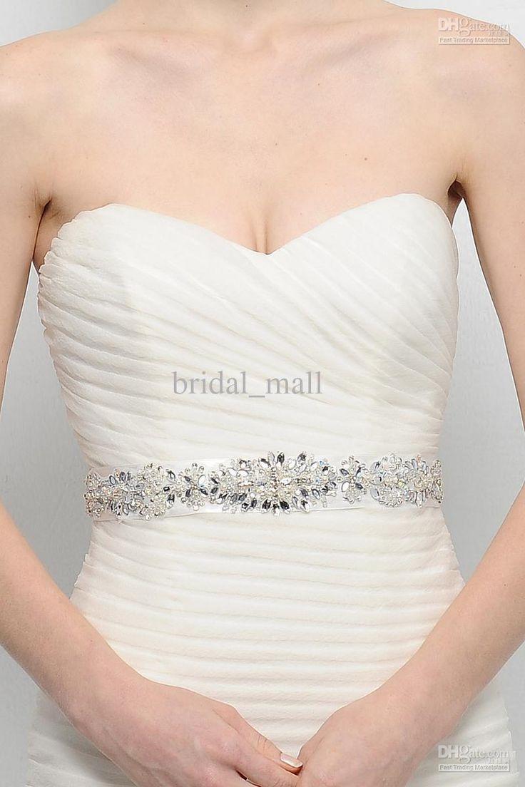 Handmade crystal bridal belt rhinestone pearl luxury wedding dress - Bridal Accessories Belt Wedding And Bridal Inspiration