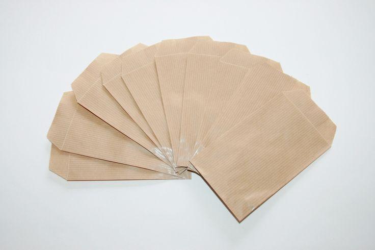 10 mini Sachets kraft brun 7 x 12 cm : Emballages, paquets cadeaux par boutique-creative-by-c-dona