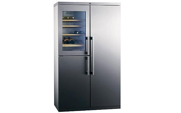At just 57.5cm deep, this spacious fridge-freezer design will fit flush with a    standard worktop to give a streamlined, integrated look, while still    offering a huge amount of cold storage. A built-in wine cooler will keep    your favourite tipple tip-top. S75598KG fridge-freezer, £2,000, (H185.5cm x    W109cm x D57.5cm), AEG-Electrolux