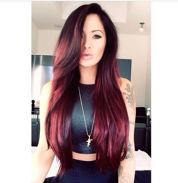 124 best before and afters images on pinterest hair extensions get this look with some burgundy red love pmusecretfo Choice Image