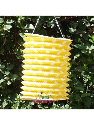 Sarı Puantiyeli Fener Süs