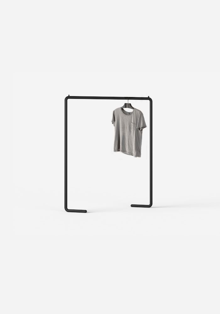 Minimal Clothing Rack designed and built with Aalo