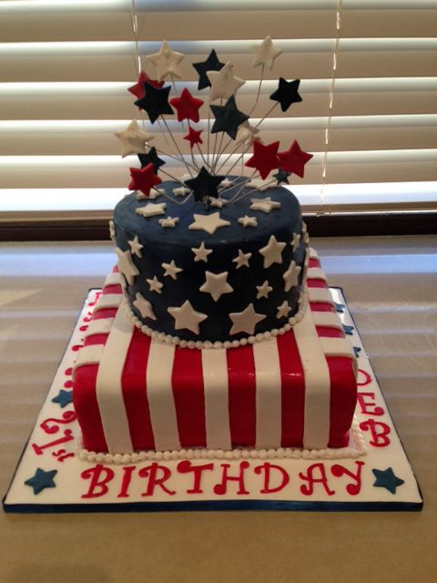 American themed cake for 21st birthday - 2014
