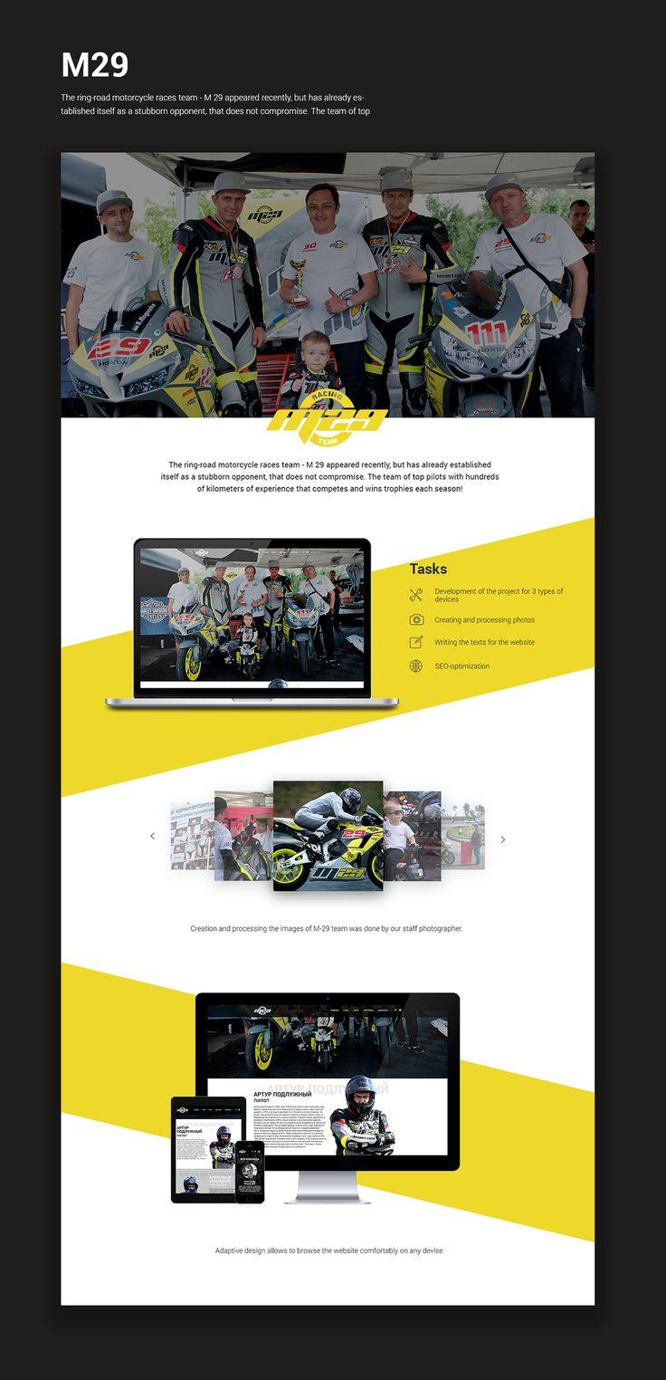 M29 Website on Behance