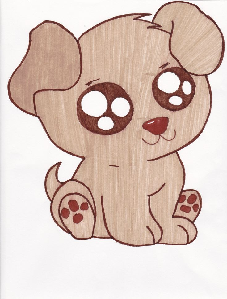cute+drawings | Cute Puppies Drawings
