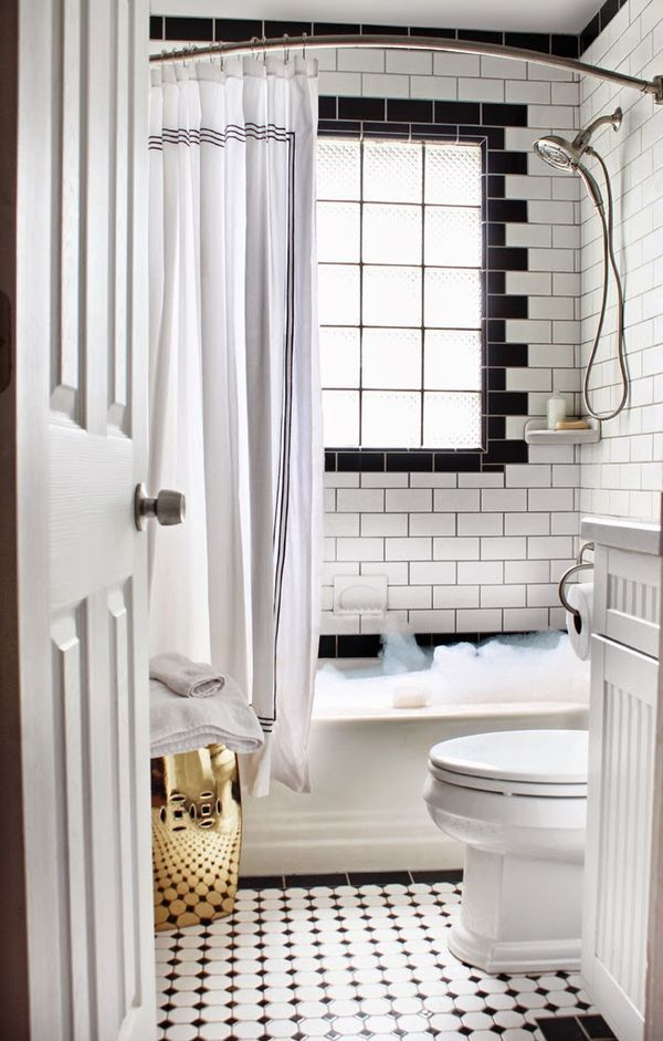 Small Black & White Bathroom