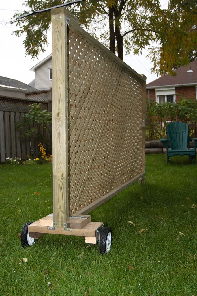 Great Privacy Screen By Gary J Wood   Decorative, Movable Privacy Screen. Attach  Large Planter