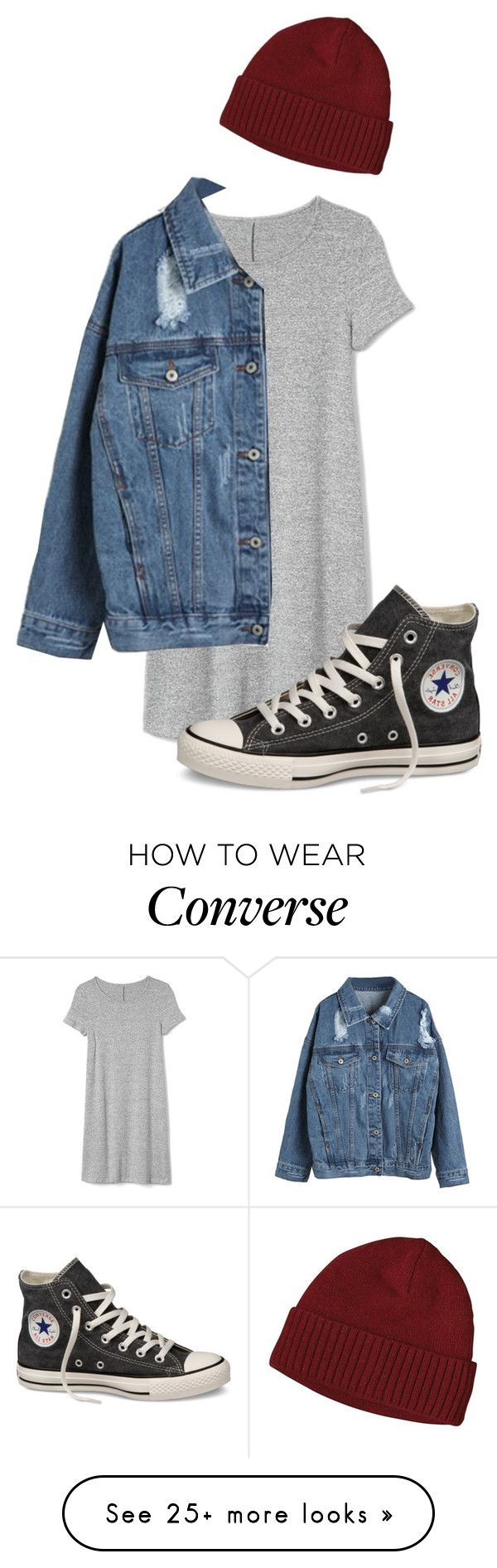 """""""I feel blessed"""" by pageslearntothink on Polyvore featuring Gap, WithChic, Patagonia and Converse"""