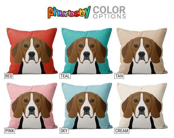 Beagle Pillow Dog Lover Gift Fiance Gift Throw Pillow Dog