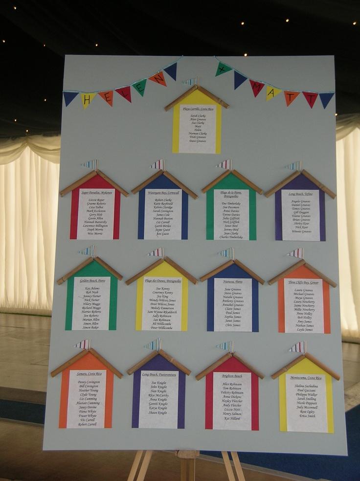 Beach Hut Themes Table Plan