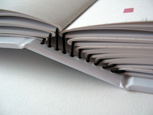 Repined by Artisan Books: elastic binding for pamphlet stitchbooks - good way to bind serials