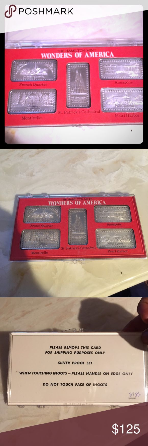WONDERS OF AMERICA PURE SILVER OUNCE BARS WONDERS OF AMERICA PURE SILVER OUNCE BARS.  Each bar is 1 ounce of pure silver silver bars Accessories Jewelry
