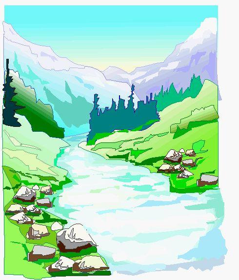 flowing river cartoon - photo #13