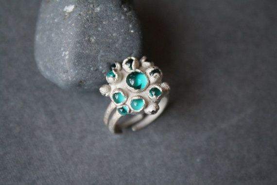 DragonGlass winter Ring. Glass copper and nickel от LikeAGlassShop
