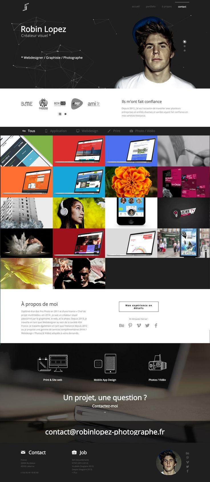 Petit rafraichissement d'été pour mon portfolio. Bonne visite. http://www.robinlopez.fr/ #webdesign
