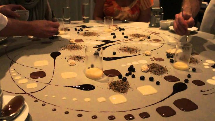 Alinea Restaurant - Table top dessert...$500 per person for an 18-22 course meal BUT completely worth it.
