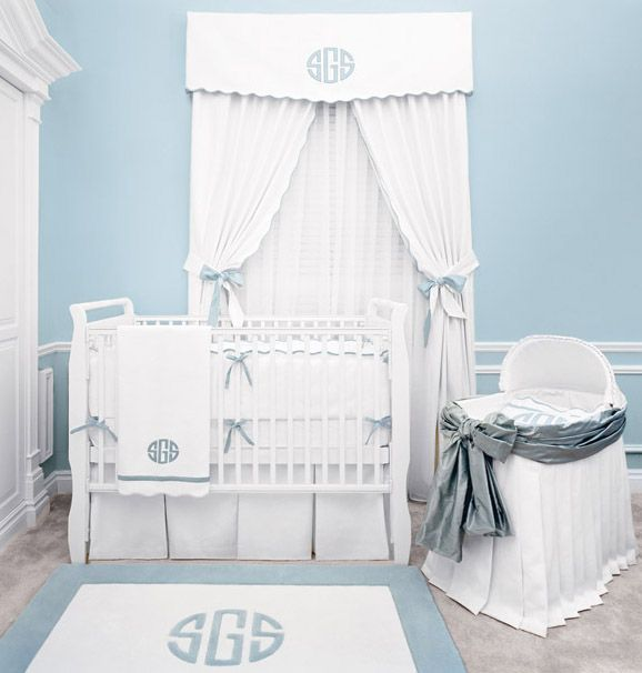 Monograms for the baby boy! Beautiful.  This is available at Cotton & Kudzu Mall, Helena, AR