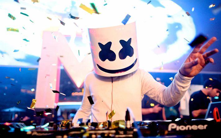 Descargar fondos de pantalla DJ, Marshmello, músico, discoteca, dj console, superestrellas, DJ Marshmello