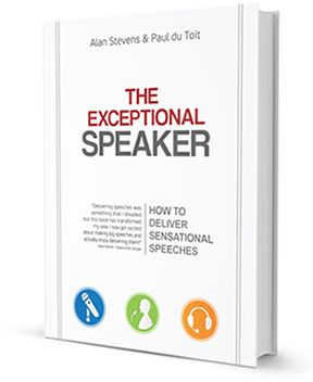 Paul du Toit and Alan Stevens will be presenting a Public Speaking Master Class in Jhb and Cape Town in April based on their book, The Exceptional Speaker.