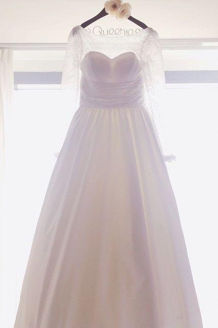 A beautiful wedding dress at Hyatt Regency Hong Kong, Sha Tin. Photo courtesy of @trish_on_carousel.