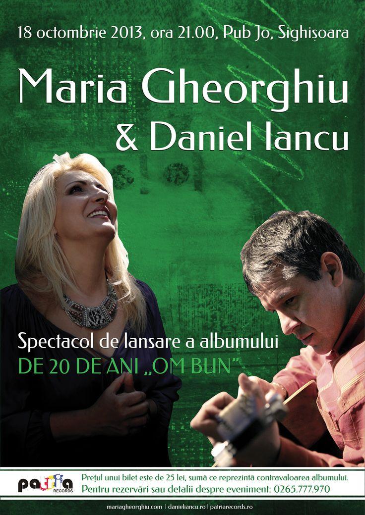 """Concert la Sighișoara - Maria Gheorghiu & Daniel Iancu, prilejuit de lansarea celui mai nou album al Mariei Gheorghiu - De 20 de ani """"Om Bun"""""""