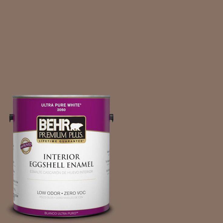 BEHR Premium Plus 1-gal. #770B-6 Oakwood Brown Zero VOC Eggshell Enamel Interior Paint