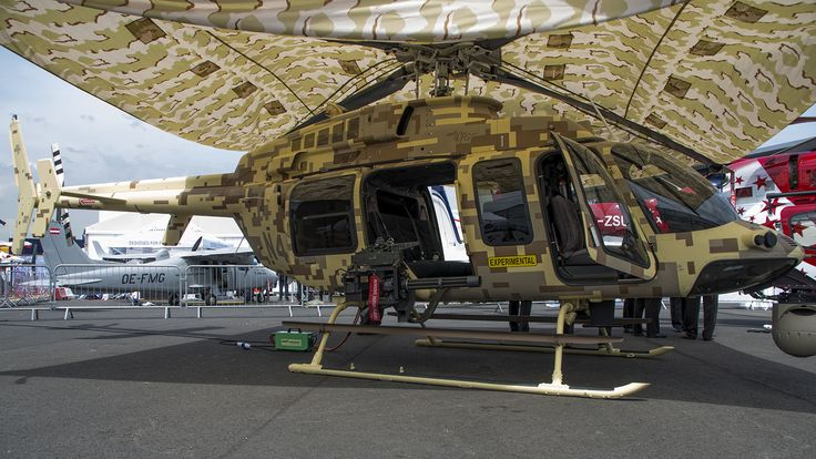 Experimental Armed Bell 407 GT. The Bell 407GT is the state-of-the-art tactical light commercial helicopter, bringing together the Garmin G1000H™ flight deck with precision weapons capability.