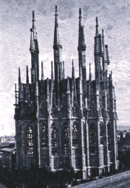 El ábside de la Sagrada Familia en 1893
