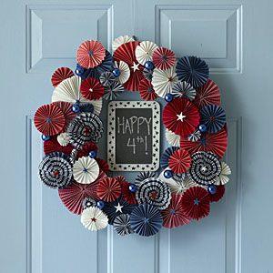 Easy craft idea: Fourth of July wreath