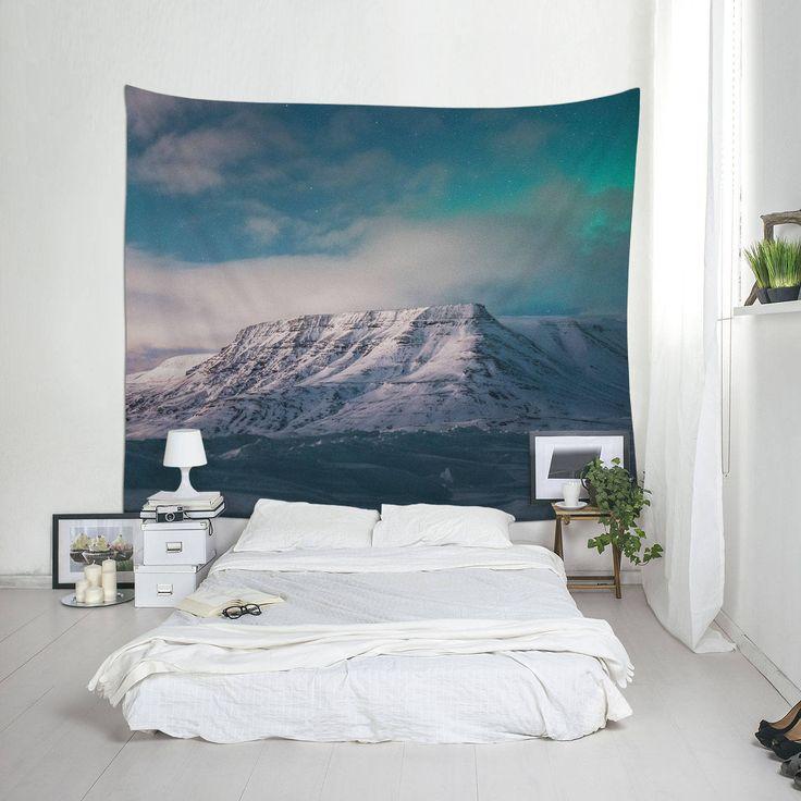 Icelandic Print, Wall Blanket, Fabric Tapestry, Iceland Photography, Landscape Photo, Room Decor, Scandinavian Art by Macrografiks on Etsy