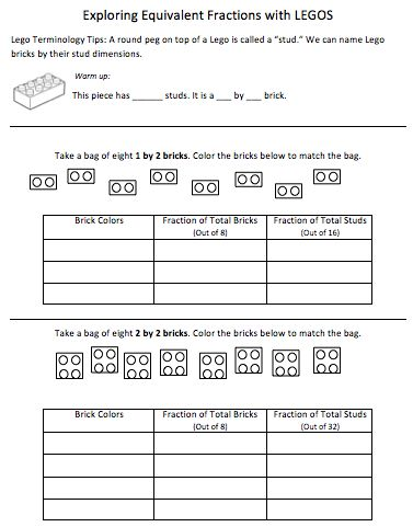 Equivalent Fractions with Legos: Lego Math Fractions, Teacher Centre, Fractions Lessons, Learning Fractions, Lego Fractions Worksheets, Equiv Fractions Lego, Fractions With Lego, Equivalent Fractions, Lego Fractionsthumbn Png