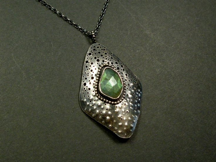 Rose Cut labradorite pendant from Oblivion Jewellery's 'Siren Collection'