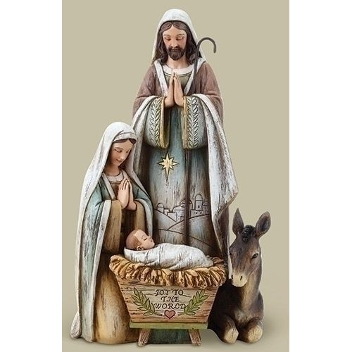 "Holy Family with Donkey, 10.5"""